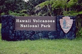 Hawaii Volcanoes Sign